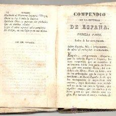 Libros antiguos: COMPENDIO DE LA HISTORIA DE ESPAÑA . Lote 14439085
