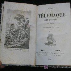 Libros antiguos: 1850 LAS AVENTURAS DE TELEMACO. FENELON. CHEZ MARTIAL ARDANT FRÈRES. FRONTISPICIO. Lote 26383312