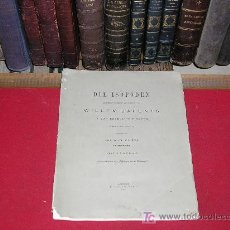 Libros antiguos: 1884 DIE ISOPODEN. WILLIAM BARENTS. 3 LAMINAS. FOLIO. ENTOMOLOGIA. EN ALEMAN. Lote 26701837