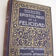 Libros antiguos: EPISTOLARIO DE LA FELICIDAD ( VELADAS DE LONDRES)-DANIEL BURST ROSS-SIN FECHA-ANT. ROCH, EDT-. Lote 25011384