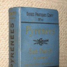 Libros antiguos: PIRINEOS. PYRÉNÉES. SUD-OUEST DE LA FRANCE ROUTES POUR AUTOMOBILES. GUIDES CONTY. 1909. MAPAS. Lote 25401748