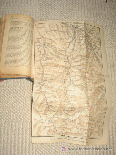 Libros antiguos: Pirineos. Pyrénées. Sud-Ouest de la France routes pour automobiles. Guides Conty. 1909. Mapas - Foto 4 - 25401748