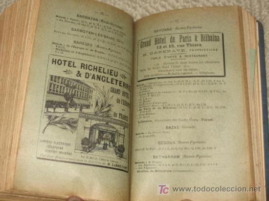 Libros antiguos: Pirineos. Pyrénées. Sud-Ouest de la France routes pour automobiles. Guides Conty. 1909. Mapas - Foto 6 - 25401748