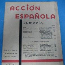 Livros antigos: ACCIÓN ESPAÑOLA - RAMIRO DE MAEZTU. Lote 22749350