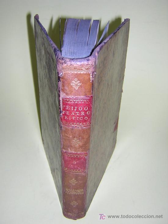 1773 - FEIJOO - TEATRO CRITICO UNIVERSAL - TOMO V - ILUSTRACIÓN ESPAÑOLA (Libros Antiguos, Raros y Curiosos - Pensamiento - Otros)