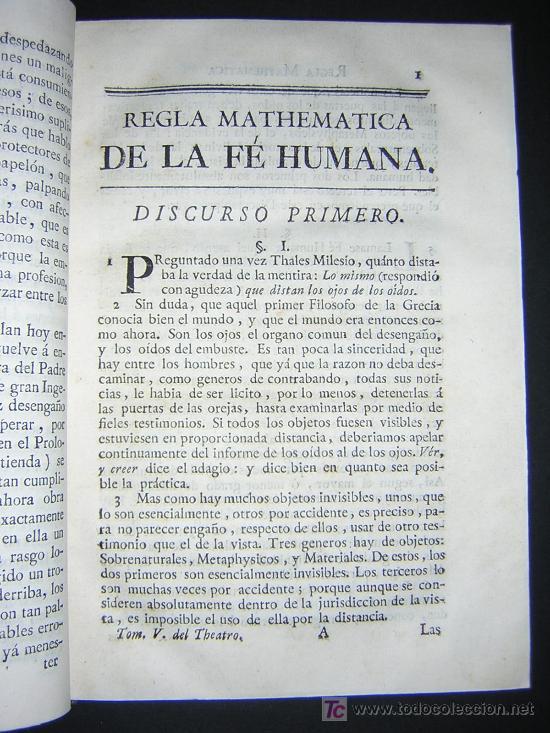 Libros antiguos: 1773 - FEIJOO - TEATRO CRITICO UNIVERSAL - TOMO V - Ilustración española - Foto 5 - 23667755