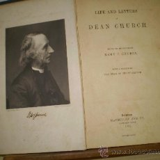 Libros antiguos: MARY C. CHURCH LIFE AND LETTERS LONDON 1894. Lote 16684770
