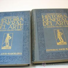 Libros antiguos: RESUMEN DE LA HISTORIA GENERAL DEL ARTE, POR JOAQUIN FOLCH Y TORRES, EDITORIAL DAVID. Lote 12874488