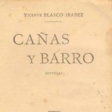 Old books - C.1920 CAÑAS Y BARRO DE BLASCO IBAÑEZ - 20261731