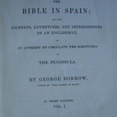 Libros antiguos: THE BIBLE IN SPAIN,GEORGE BORROW,LONDON,1843,3 VOL.370PG.398 PG.391 PG. Lote 26770134