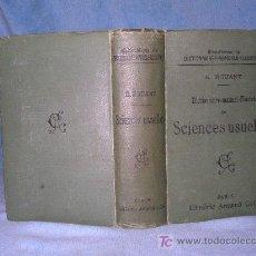 Libros antiguos: DICCIONARIO MANUAL ILUSTRADO DE LAS CIENCIAS - AÑO 1903 - BELLOS GRABADOS.. Lote 25038036