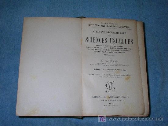 Libros antiguos: DICCIONARIO MANUAL ILUSTRADO DE LAS CIENCIAS - AÑO 1903 - BELLOS GRABADOS. - Foto 2 - 25038036