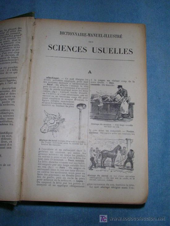 Libros antiguos: DICCIONARIO MANUAL ILUSTRADO DE LAS CIENCIAS - AÑO 1903 - BELLOS GRABADOS. - Foto 3 - 25038036