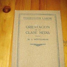Libros antiguos: ORIENTACION DE LA CLASE MEDIA. LEO MÜFFELMANN. BIBLIOTECA DE INICIACION CULTURAL 72.COLECCION LABOR*. Lote 26463797