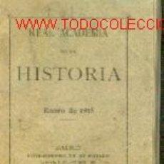 Libros antiguos: REAL ACADEMIA DE LA HISTORIA (MADRID, 1915). Lote 23516871