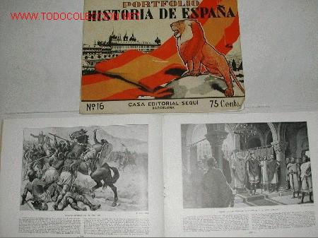 PORTFOLIO HISTORIA DE ESPAÑA. LA HISTORIA DE ESPAÑA A TRAVÉS DE LAS GRANDES OBRAS DE ARTE. (Libros Antiguos, Raros y Curiosos - Historia - Otros)