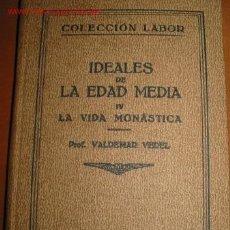 Libros antiguos: LA VIDA MONASTICA. 1.931. Lote 23501207