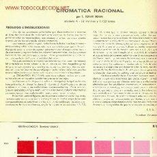 Libros antiguos: CROMATICA RACIONAL. Lote 1230804
