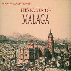 Libros antiguos: 2 TOMOS DE LA HISTORIA DE MÁLAGA. TODA LA HISTORIA DE ESTA PROVINCIA ANDALUZA DESDE EL COMIENZO HAST. Lote 23175250