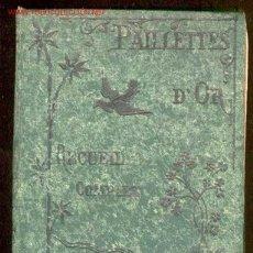 Libros antiguos: 1880 PAILLETTES D´OR - SANCTIFICATION ET LE BONHEUR DE LA VIE. Lote 26790069
