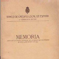 Libros antiguos: BANCO DE CRÉDITO LOCAL DE ESPAÑA. Lote 21083714