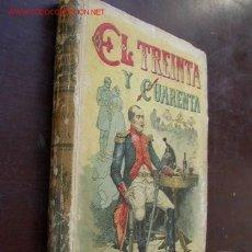 Libros antiguos: EL TREINTA Y CUARENTA- EDMUNDO ABOUT- VERSION CASTELLANA- MAD. SATURNINO CALLEJA FERNÁNDEZ-1876?. Lote 23581372