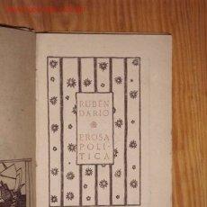 Libros antiguos: PROSA POLITICA (LAS REPUBLICAS AMERICANAS)-RUBEN DARIO. Lote 23779456