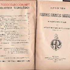 Libros antiguos: APUNTES DE FUNCIONES SINUSOIDALES O ARMÓNICAS. Lote 23743361