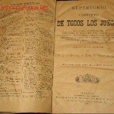 Libros antiguos: REPERTORIO COMPLETO DE TODOS LOS JUEGOS.LUIS MARCO.EUGENIO DE OCHOA.1896. Lote 27578340