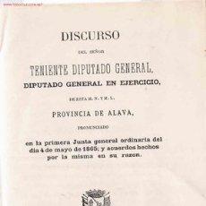 Libros antiguos: JUNTAS GENERALES DE ALAVA. (1865). . Lote 27438927