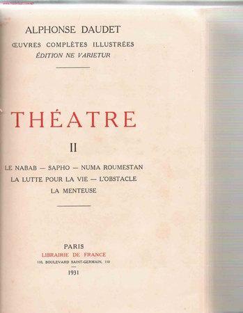 Libros antiguos: * Daudet * Théatre: oeuvres completes illustrées, edition ne varietur- 1930 - Foto 3 - 23656934