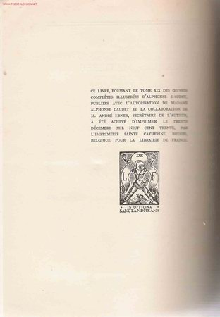 Libros antiguos: * Daudet * Théatre: oeuvres completes illustrées, edition ne varietur- 1930 - Foto 6 - 23656934
