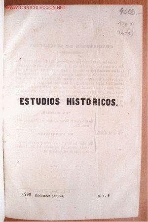 (L-62) ESTUDIOS HISTORICOS POR EL VIZCONDE DE CHATEAUBRIAND - OBRA COMPLETA EN DOS TOMOS - 1850 (Libros Antiguos, Raros y Curiosos - Historia - Otros)