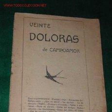 Libros antiguos: VEINTE DOLORAS DE CAMPOAMOR. Lote 2130853