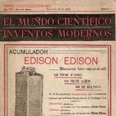 Alte Bücher - El mundo cientifico : inventos modernos [revista]. Año XIV segunda epoca n 1 Barcelona, enero 1912. - 5043979