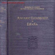 Libros antiguos: 1956 ANUARIO ESTADISTICO DE ESPAÑA 1000 PÁG. Lote 26361607
