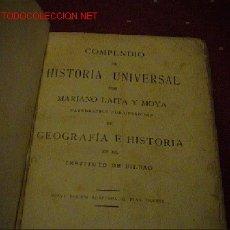 Libros antiguos: COMPENDIO DE HISTORIA UNIVERSAL. Lote 19337868