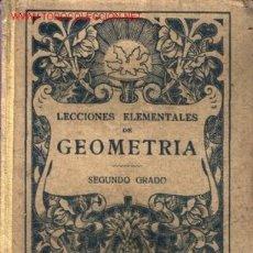 Libros antiguos: LECCIONES ELEMENTALES DE GEOMETRÍA ...193? .. ED. BRUÑO ... MANUALES ESCOLARES.. Lote 20496215
