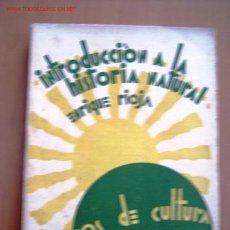 Libros antiguos: INTRODUCCIÓN A LA HISTORIA NATURAL. Lote 8747010