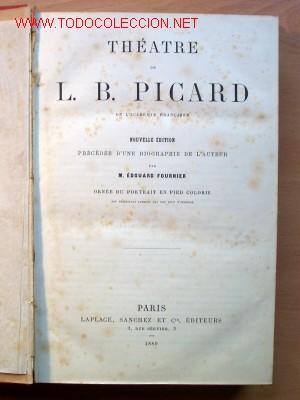 Libros antiguos: (L-165) THEATRE - L.B. PICARD - AÑO 1880 - 34 PIEZAS - AÑO 1880 - Foto 3 - 26777473