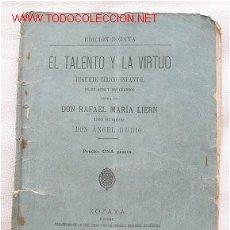Libros antiguos: EL TALENTO Y LA VIRTUD TEATRO. Lote 26207926