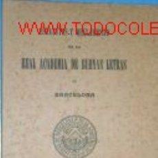 Libros antiguos: ESTATUTOS Y REGLAMENTOS.ACADEMIA DE BUENAS LETRAS.1903. Lote 2498217