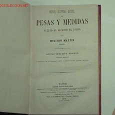 Libros antiguos: NUEVO SISTEMA LEGAL DE PESAS Y MEDIDAS PUESTO AL ALCANCE DE TODOS.(1876). Lote 19347437