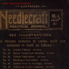 Libros antiguos: ANTIGUO LIBRO DE LABORES NEEDLECRAFT * BORDADO * CROCHET *. Lote 34520602