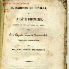 Libros antiguos: EL BARBERO DE SEVILLA. MADRID 1840. P.A. CARON DE BEAUMARCHAIS.. Lote 2573776