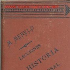 Libros antiguos: LECCIONES ELEMENTALES DE HISTORIA UNIVERSAL POR MANUEL MERELO ..............1881. Lote 16035437