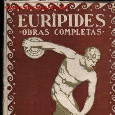 Libros antiguos: EURIPEDES OBRAS COMPLETAS. (4 TOMOS): ..................1920-30. Lote 23173904