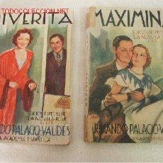 Alte Bücher - RIVERITA, Y MAXIMINA- ARMANDO PALACIO VALDES-2 TOMOS- 1934- Nº. EXT. DE LA NOVELA ROSA- BAR.- - 22712737