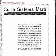 Libros antiguos: LIBRO DE CORTE SINSTEMA MARTÍ DE LENCERIA. BARCELONA 1934.. Lote 2924625