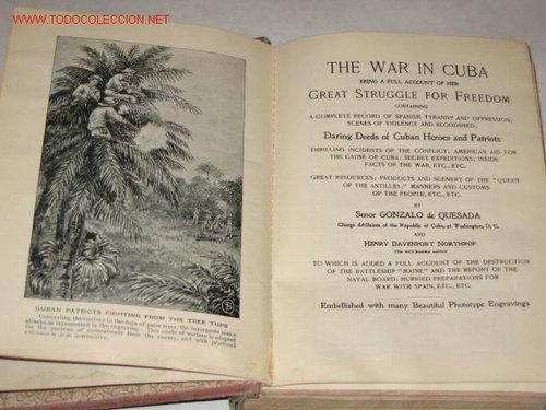 Libros antiguos: War in Cuba, or the Great Struggle for Freedom, por Gonzalo de Quesada y Henry Davenport Nortthrop - Foto 2 - 23746903